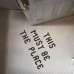 Classic & Typography Mosaic floors — The Berkshire House Floor Design, Tile Design, Penny Tile Floors, Mosaic Floors, Tap Room, Restaurant Design, Restaurant Restaurant, Mosaic Tiles, Hex Tile