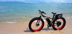 """The """"Fat Boy"""" on a beach in Samui ...  Our new website is nearly fully operational !  Check it out www.electricbikesthailand.com"""