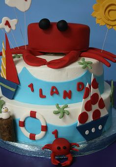 Crab-Sailboat Cake by Creative and Tasty Treats (Sandy) 305-218-8603, via Flickr