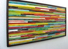 Arte madera reciclada arte de pared de madera por ModernRusticArt