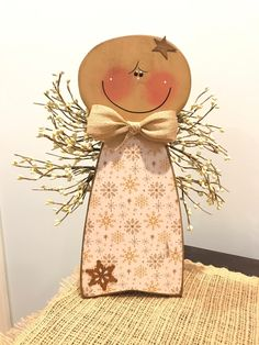Your place to buy and sell all things handmade : Excited to share the latest addition to my shop: Hanging rustic wooden angel with pip berry wings. Christmas Wood Crafts, Christmas Angels, Rustic Christmas, Christmas Art, Holiday Crafts, Christmas Decorations, Christmas Ornaments, Christmas Poinsettia, Crochet Christmas