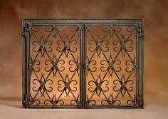 Custom Wrought Iron Fireplace Screens.