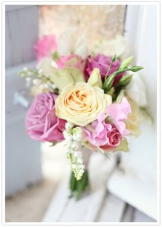 pastel rose bouquet- this entire wedding is stunning! In a French chateau!!