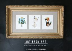 art from art (woodland animals + templates)