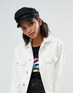 ASOS Baker Boy Hat With Pu Brim