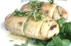Basil Butter Hasselback Potatoes