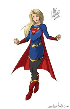 Not-wearing-a-skirt-for-no-reason Supergirl. | What Would Fully-Clothed Female Superheroes LookLike?