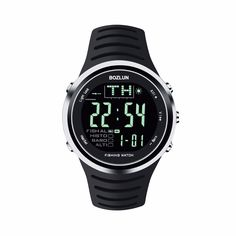 82.48$  Buy here - http://alinih.worldwells.pw/go.php?t=32659590294 - 2016New Bozlun  Professional Sports Smart Fishing Digital Watch With  Altimeter Barometer Thermometer  5ATM 50M Waterproof