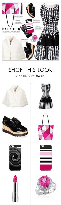"""""""Wow Factor: Faux Fur"""" by atelier-briella ❤ liked on Polyvore featuring Betsey Johnson, Alaïa, Wanted and Belk & Co."""