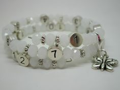 Lactobijou papillon blanc brillant Beaded Bracelets, Jewelry, Fashion, White Butterfly, User Guide, Papillons, Beads, Pouch Bag, Moda