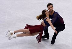 Gabriella Papadakis and Guillaume Cizeron of France perform during Ice Dance Free Dance on day four of the ISU European Figure Skating Championships...