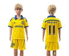 Chelsea away kids 11-14-15 Season Soccer Jerseys