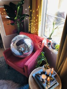 20 Disco Ball Mirror Ball THE DIANA X-LARGE   Etsy Disco Party, Disco Ball, Living Room New York, Bubble Wrap Bags, Mirror Ball, Life Is Short, Christmas Tree Decorations, Decorative Items, Accent Chairs