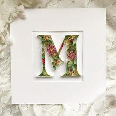 """#letter """"M""""  Продолжаю участие в #lettering_marathon  #буква «М» с засечками и в моём любимом цветовом узоре  #floralpattern"""