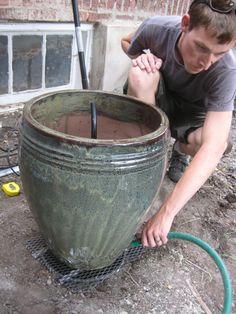 Ceramic pot fountain