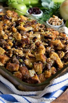 Cornbread and Sausage Stuffing - This is the delicious recipe we make every year at Thanksgiving!