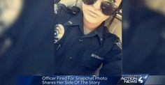 A white police officer in Pennsylvania has been fired by her town's mayor for posting a selfie on Snapchat with a racially charged caption.