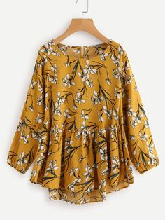 Shop All Over Florals Smock Top online. SheIn offers All Over Florals Smock Top & more to fit your fashionable needs.