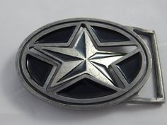 Vintage reversible star belt buckle Red or Black by AlwaysPlanBVintage on Etsy