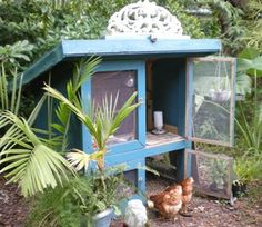 French Blue Chicken Coop. Seriously thinking chickens....