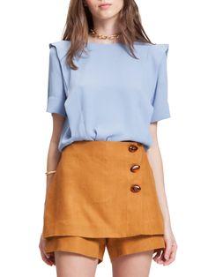 Blusa Ester Sky - 2Collab Look Short, Baby Blue, Ideias Fashion, Short Dresses, Mini Skirts, Shorts, Inspiration, Inspire, Women
