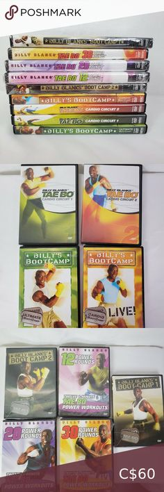 Billy Blanks Workout DVDs Lot of 9 4 used and 5 new Other