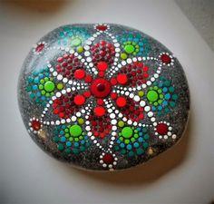 Navidad flor flor de Pascua pintado Rock por P4MirandaPitrone