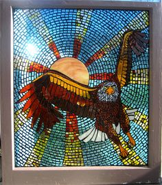 Eagle Stained Glass Mosaic Window by ShatteredPortraits