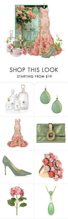 """The Secret Door"" by renna-ravenwood ❤ liked on Polyvore featuring Guerlain, Stephen Dweck, Rodo, Jimmy Choo, Oscar de la Renta, OKA and Royal Doulton"