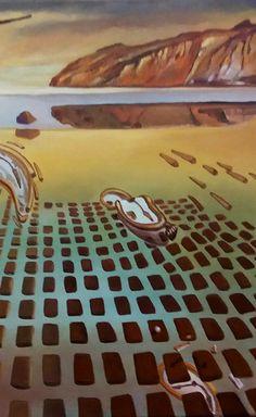 """Trabalho inspirado em a """"Desintegração da Persistência da Memória"""" de Dalí - (13ª etapa) (1/3/2017) - Pormenor"""