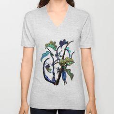 Jolie Ville V-neck T-shirt by Marie Elke Gebhardt - $24.00