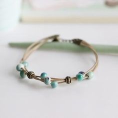 Fashion Delicate Bracelets Handmade Layer Ceramic Jewelry Colorful Beads Bracelet Small Jewelry for Women Creative Chinese Style Metal Bracelets, Handmade Bracelets, Bangle Bracelets, Ceramic Jewelry, Ceramic Beads, Aries, Colorful Bracelets, Fashion Bracelets, Fashion Jewelry