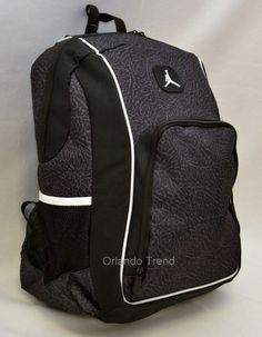 "Nike Air Jordan Backpack 15"" Laptop Jumpman Black Computer Elephant Men Bag #Nike #Backpack #OrlandoTrend #Elephant #Jordan"