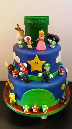 Mario cake  Www.facebook.com/simplycakes.brittneyshiley  Www.simply-cakes.com