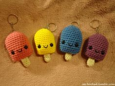 amigurumi popsicle key chains