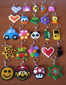 Un blog pieno di...Impronte!: Portachiavi con Hama Beads!