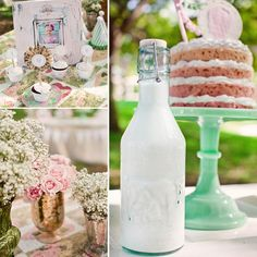 Vintage candy table theme