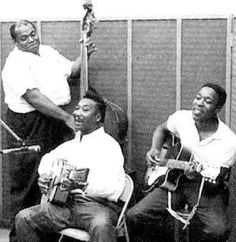 Willie Dixon, Muddy Waters, and Buddy Guy at Chess Records.