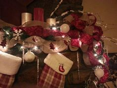 Christmas Mantel 2013 - detailed view