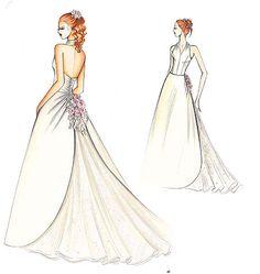 Marfy Dress  FS550  Like the back skirt detail