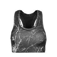 Sprinkled dames sport bh top zwart/wit