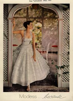 1953 wedding dress
