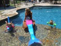 my homemade mermaid tail it is swimmable the monofin is really fast.