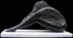 Black Belgian Marble by Sava C Marian titled: 'FINALE (Black Carved Dancer Resting sculpture statue)'. Abstract Sculpture, Sculpture Art, Statues For Sale, Sculptures Céramiques, Contemporary Sculpture, Sculpting, Inspiration, Antony Gormley, Soapstone Carving