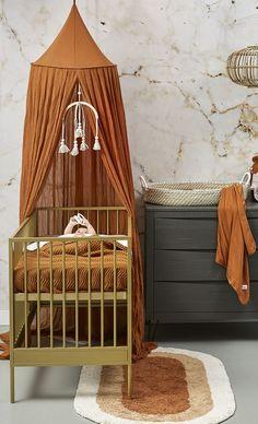 Baby Bedroom, Baby Boy Rooms, Kids Bedroom, Nursery Crib, Nursery Room Decor, Deco Orange, Woodland Nursery Boy, Nursery Neutral, Decoration