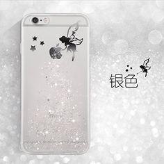 Sunroyal® Coque iPhone SE 5S 5 Transparent Beau Fairy Fée Bling Diamant TPU Soft Crystal Clear Etui Housse Premium Ultra Mince Strass Case…