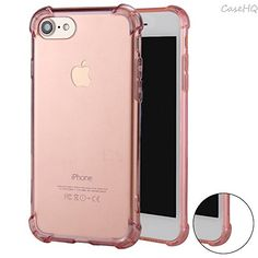 iPhone 7 Case CaseHQ Flexible TPU Extra Protection Transparent Comfortable Grip Reinforced Bumper Ultra Slim Fit Protective Defender Back Covers Rubber Silicone Skin CoverRosegold iPhone 7 Case -- Find out more about the great product at the image link.Note:It is affiliate link to Amazon.