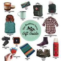 The outdoors lover gift guide — a variety of gift ideas for the hiking, camping fun-loving lady in your life. From hiking boots to candles, hats and gloves! Be real with me, how's your holiday shopping going? I'm basically [. Gifts For Him, Gifts For Women, Outdoorsy Style, Love Your Melon, Gadgets, Outdoor Gifts, Outdoor Gear, Camping Gifts, Gifts For Campers
