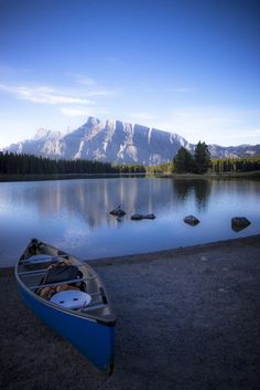Beautiful canoe trip. #Canoe #Mountains