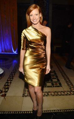 Jessica Chastain WHAT:  Lanvin WHERE:  The Fashion Institute of Technology Gala, New York City